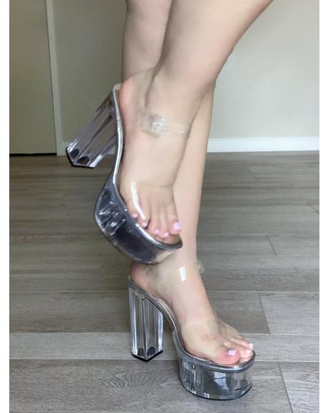 Champagne Room Clear Heels