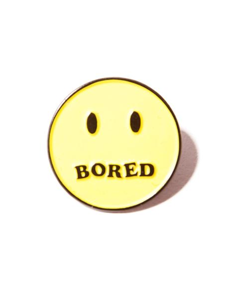 Bored Smiley Pin