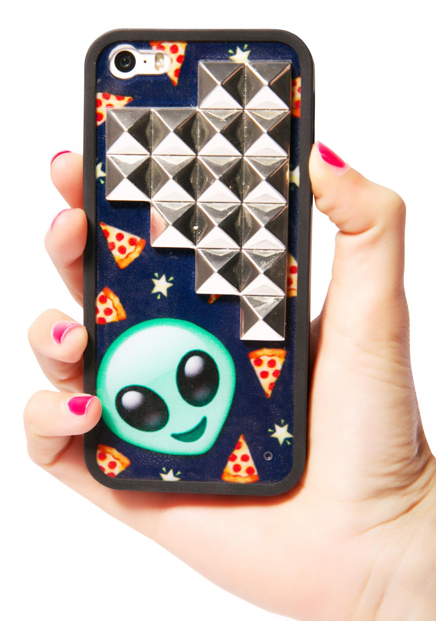 Pizza In Space Studded iPhone 5/5S Case