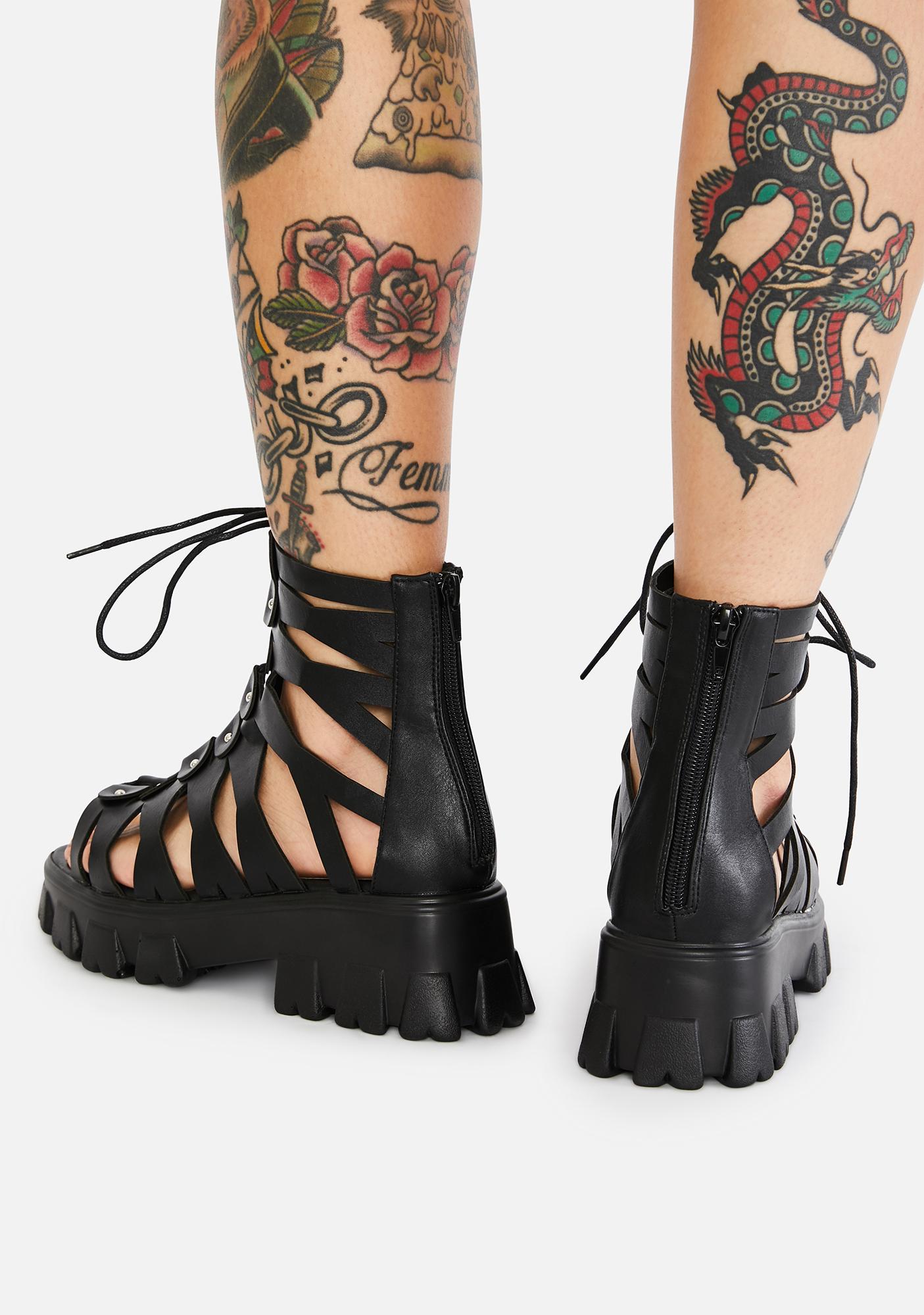 AZALEA WANG Conquer Gladiator Sandals