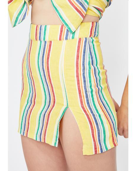 Carnival Cutie Stripe Skirt