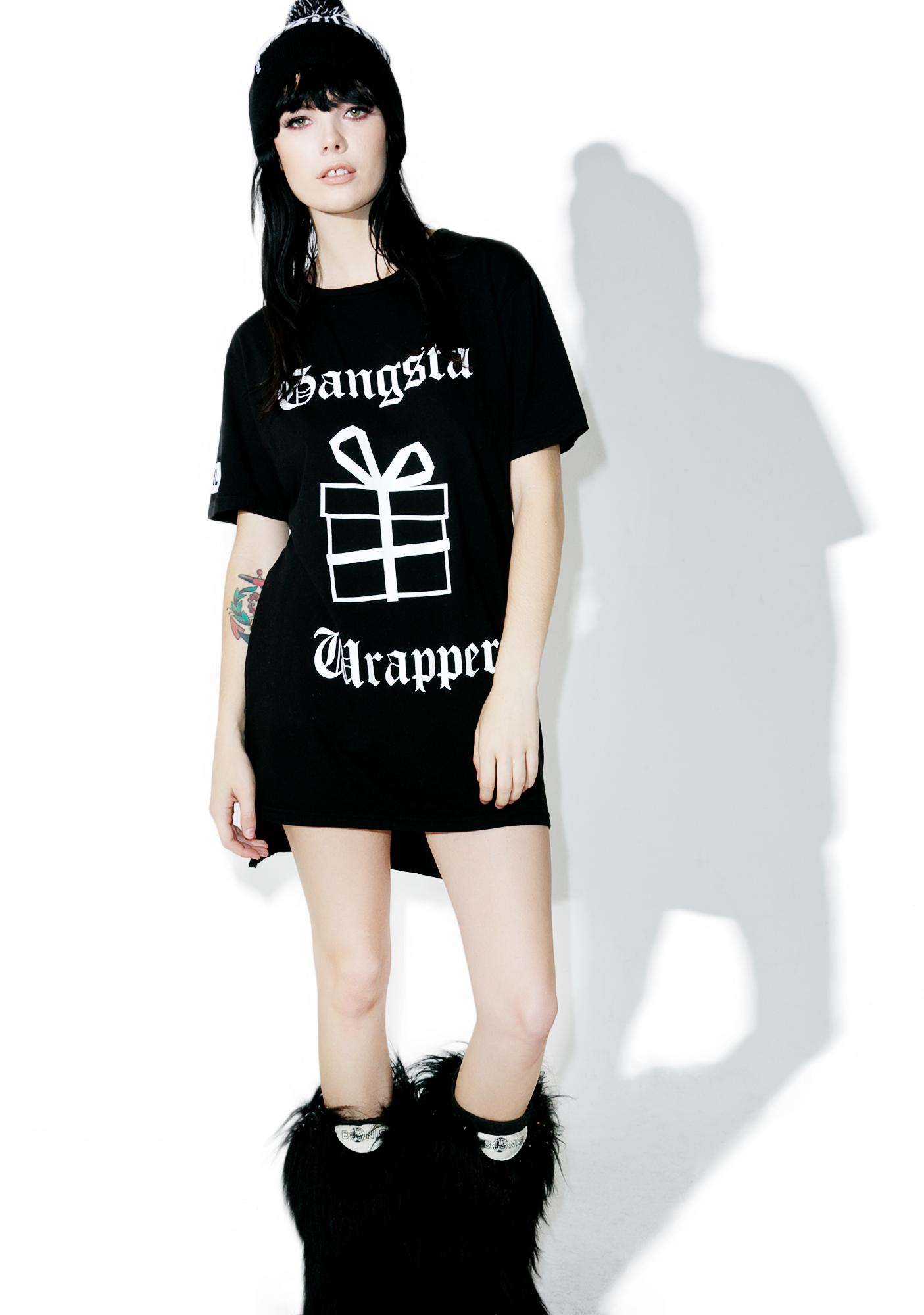 MeYouVersusLife Gangsta Wrapper Hi Lo Tee