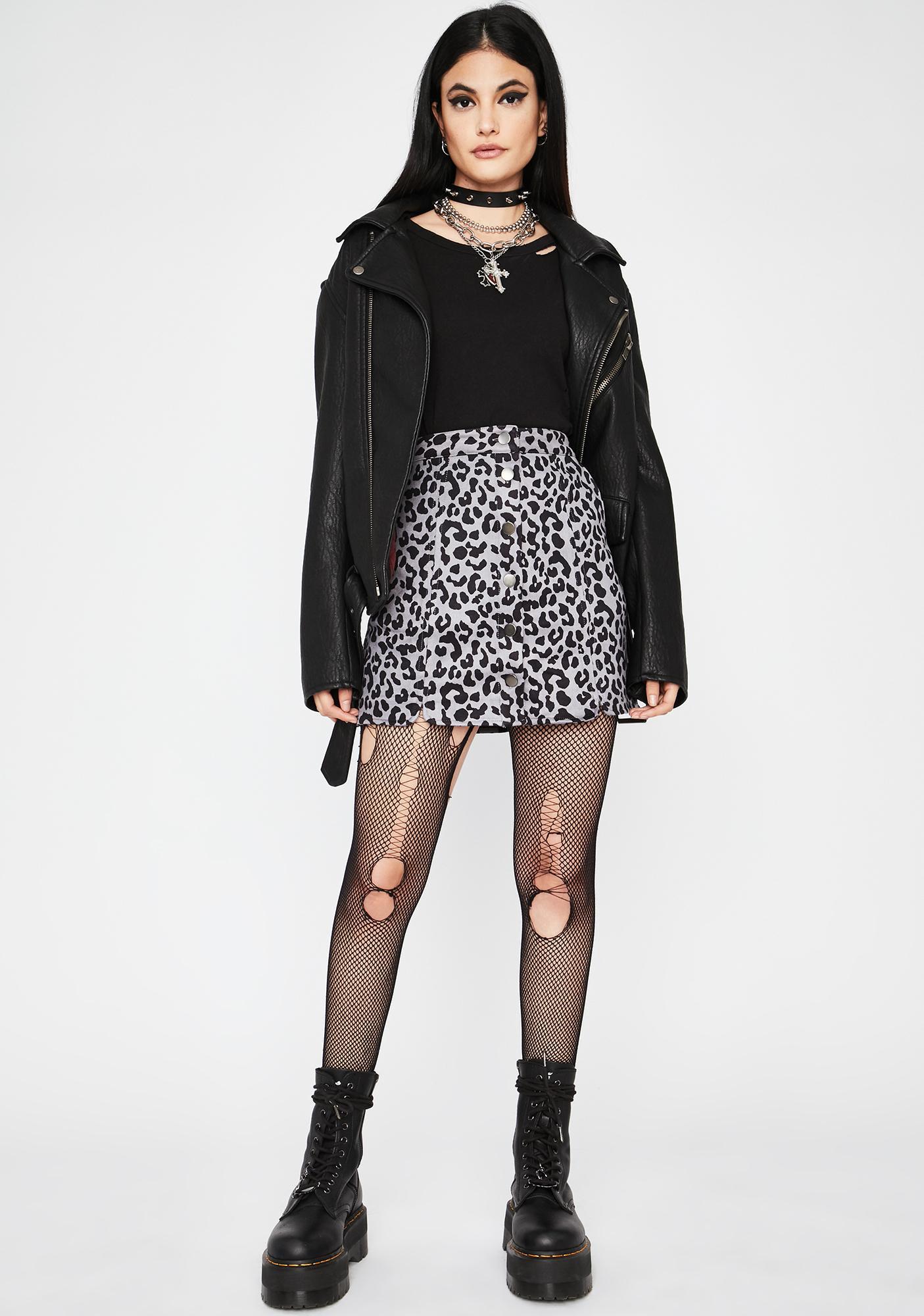 Stormy Jungle Kween Button Up Skirt