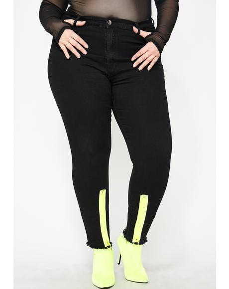 Radioactive Drip Skinny Jeans