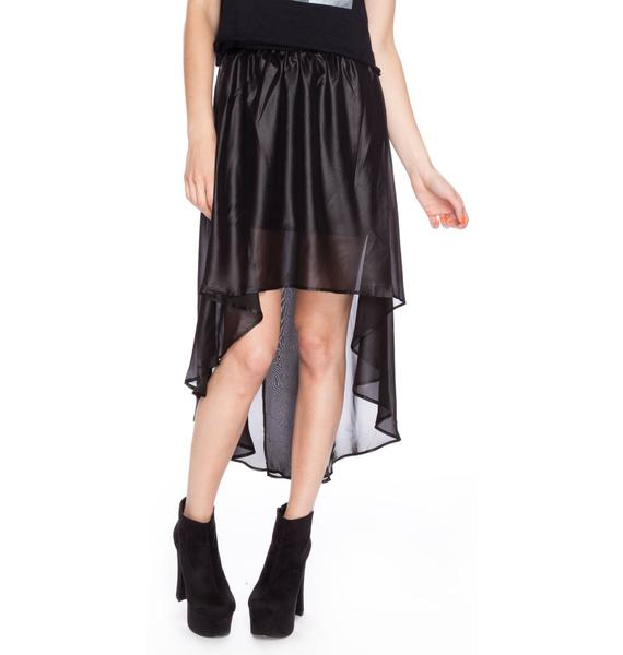 Widow (old) Chinsed Chiffon Tail Skirt