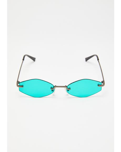 So Electric Rimless Sunglasses