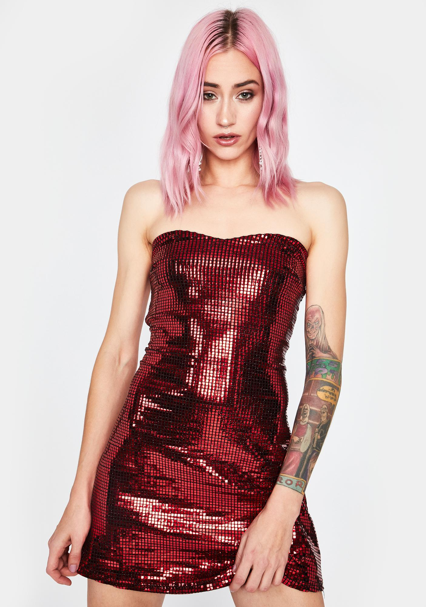 Fire Guest List Girl Sequin Dress