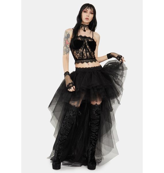 Devil Fashion Lace Up Back Bustier Top