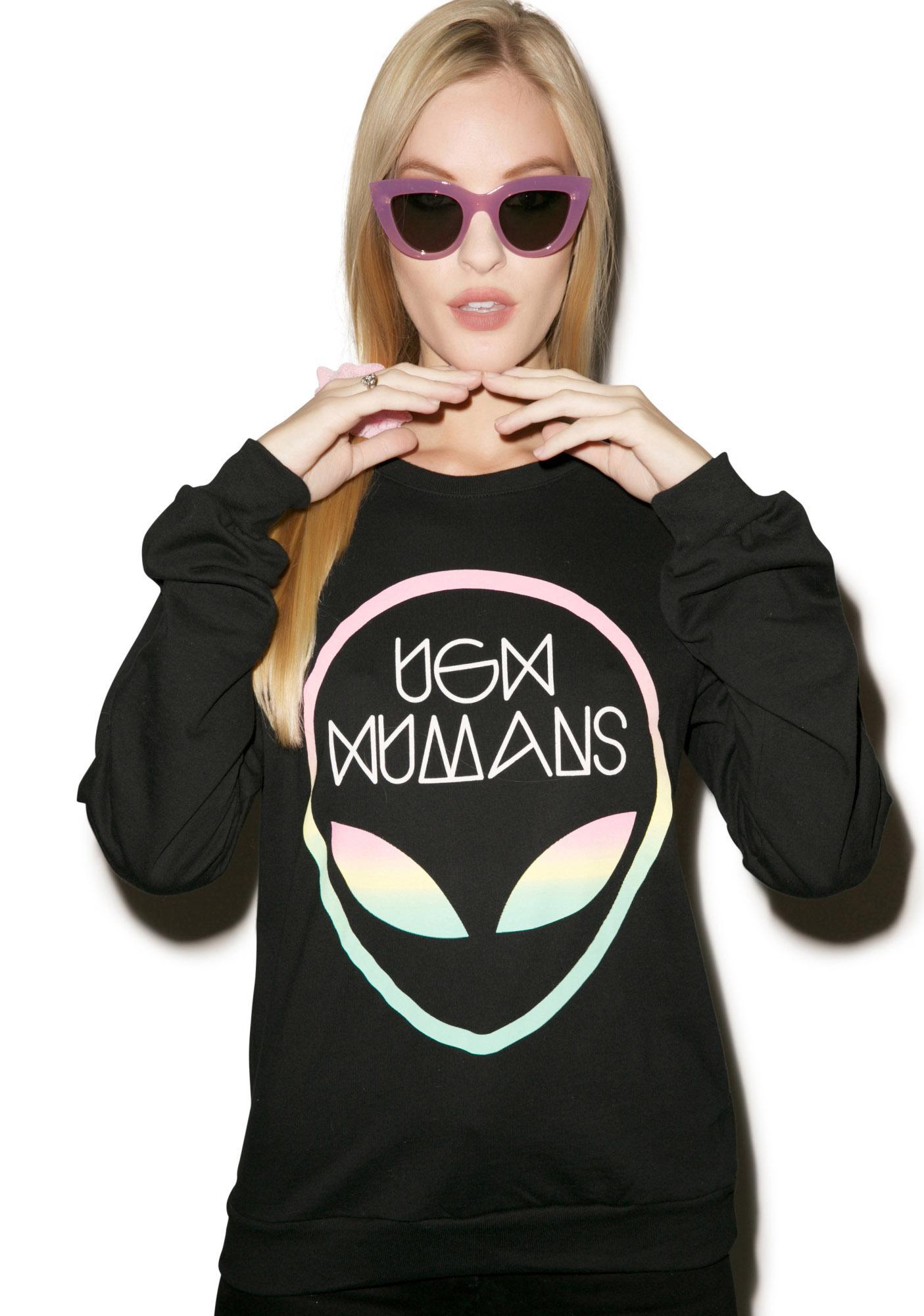 MeYouVersusLife Ugh Humans Crew Neck Sweater