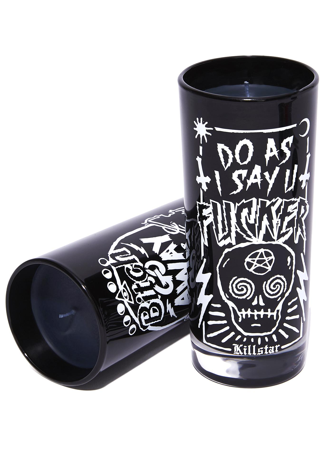 Killstar Do As I Say Ritual Candle