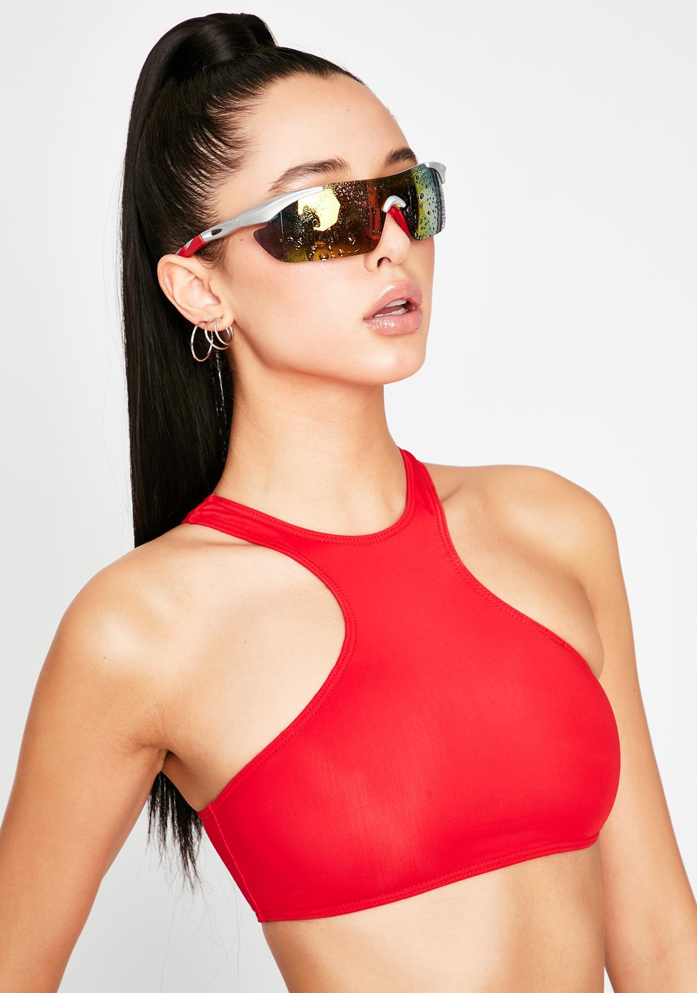 OH SHIT Red Freya Bikini Top