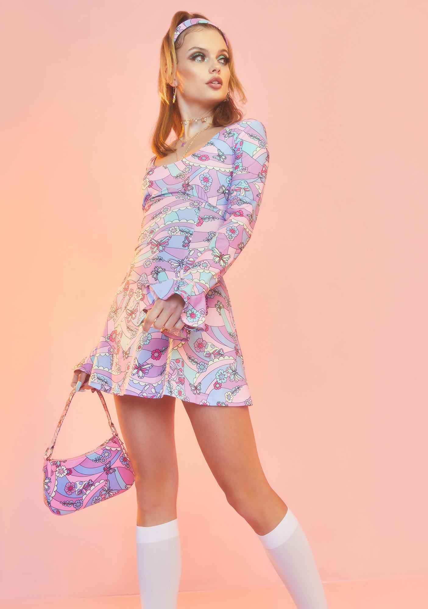Sugar Thrillz Blooming With Love Mini Dress