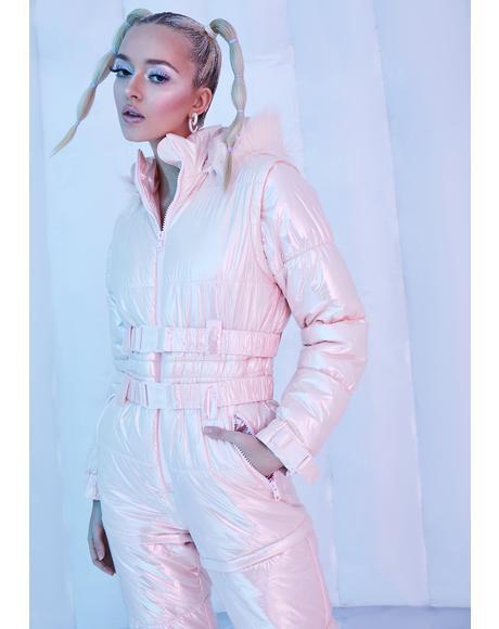Sweet Aurora Beam Metallic Snowsuit