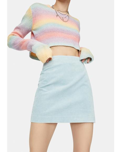 Sky's The Limit Corduroy Mini Skirt