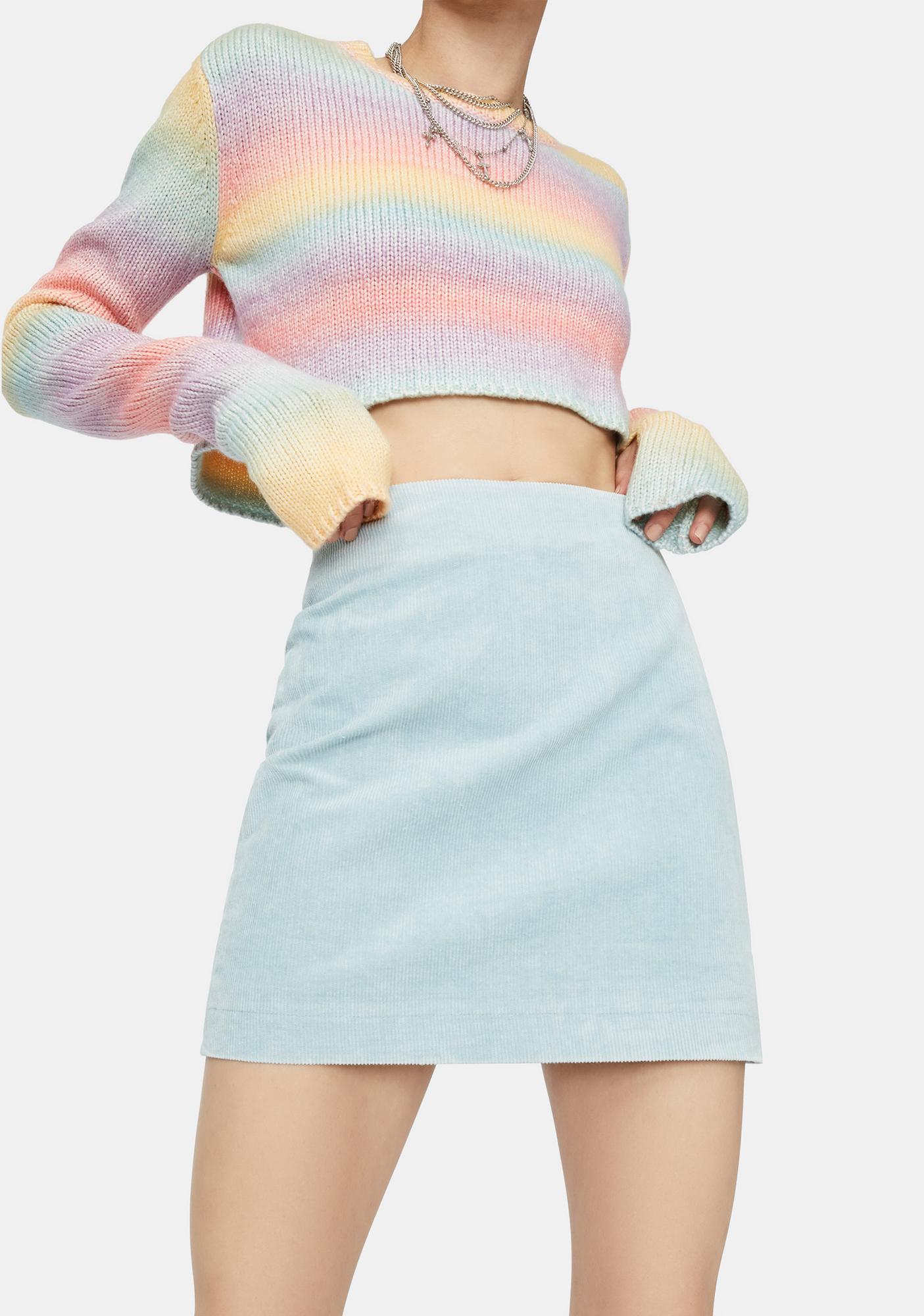 Sky's The Limit Corduroy Mini Skirt