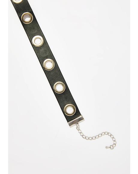 Bad Judgement Grommet Choker