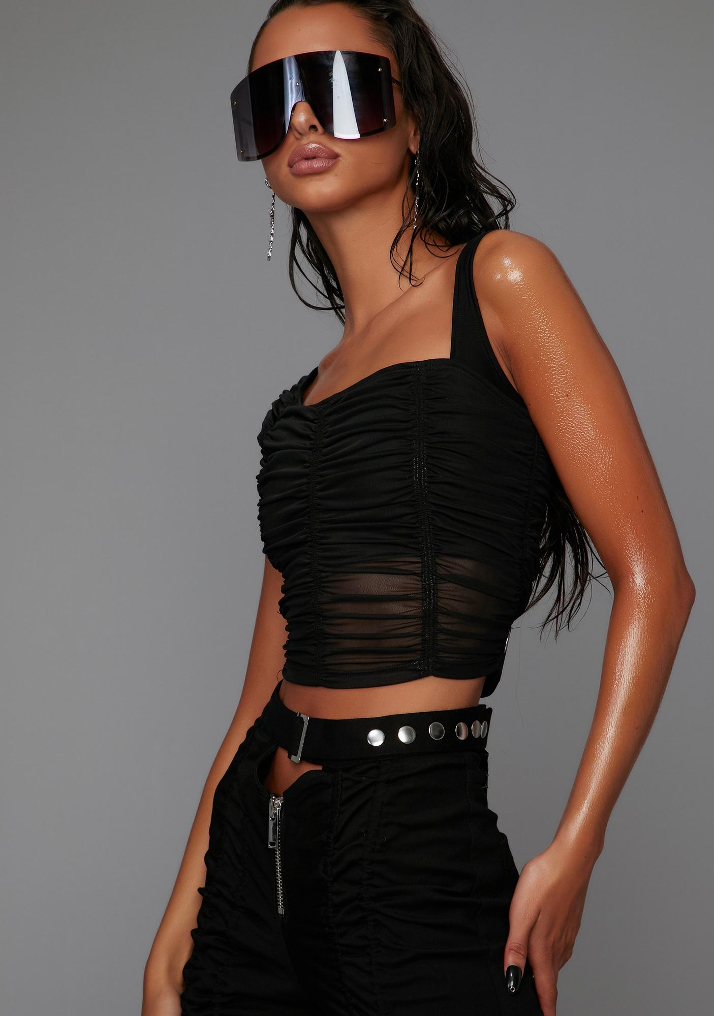 Poster Grl Look At Me Now Asymmetrical Top