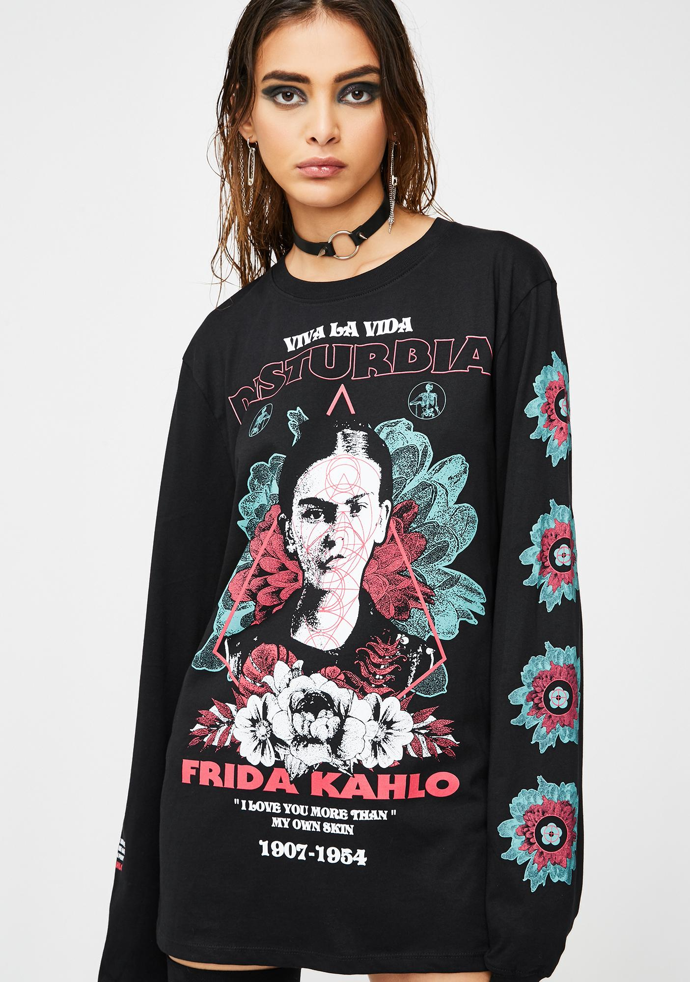 Disturbia Frida Viva Long Sleeve Tee