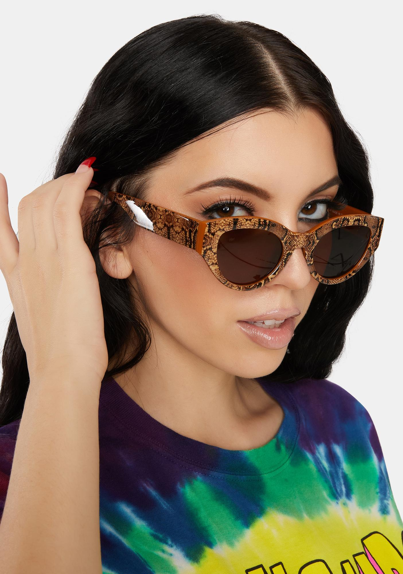 Wild By Nature Snake Print Sunglasses