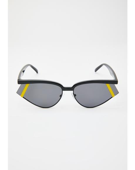 Hata Blockas On Sporty Sunglasses