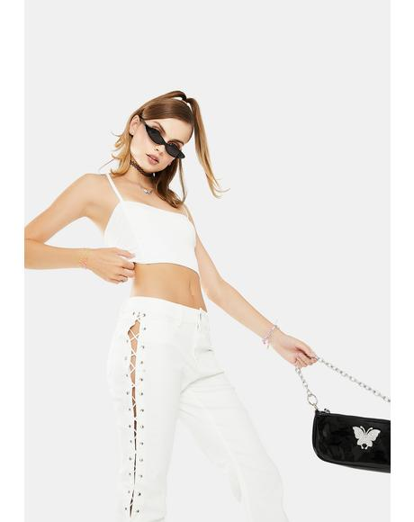 Ivory Major Fomo Crop Top