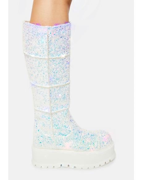 Cerberus Glitter Platform Boots