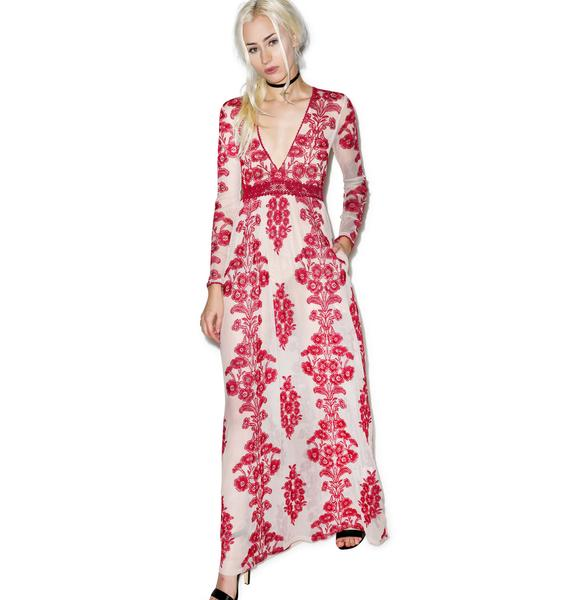 For Love & Lemons Temecula Wine Maxi Dress