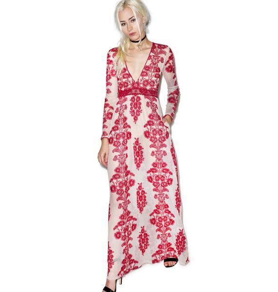 For Love & Lemons Temecula Wine Maxi Dress