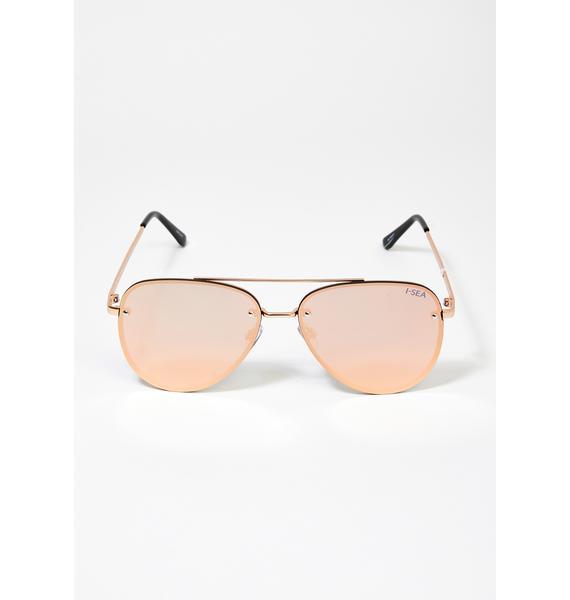 I-SEA Rose River Aviator Sunglasses