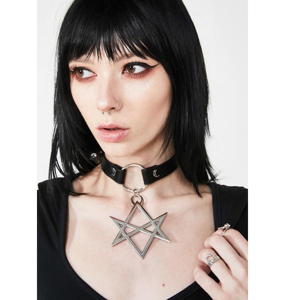 Killstar Hexagram Choker