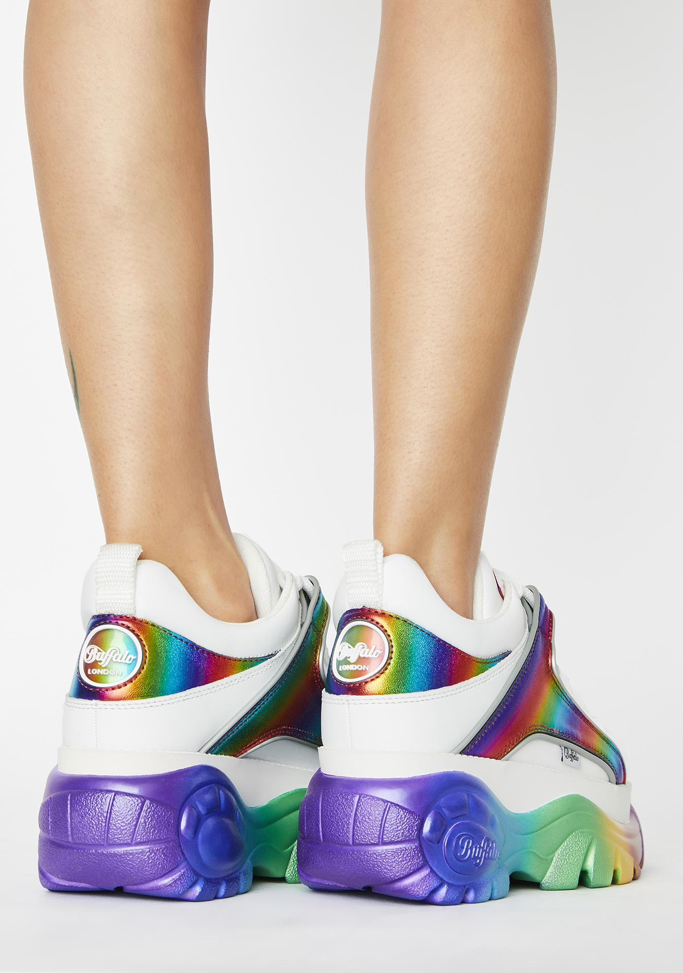 Buffalo London Rainbow Classic Low Leather Sneakers