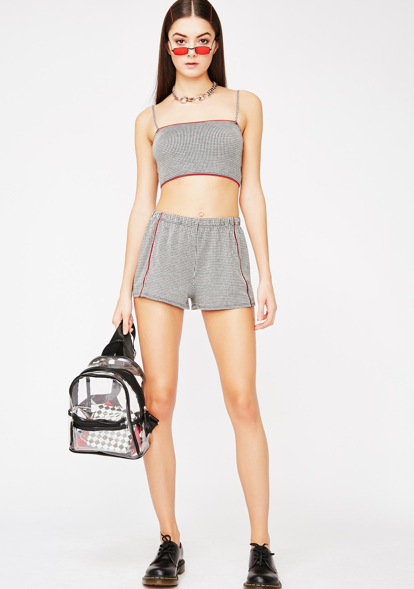 Too Reckless Gingham Set