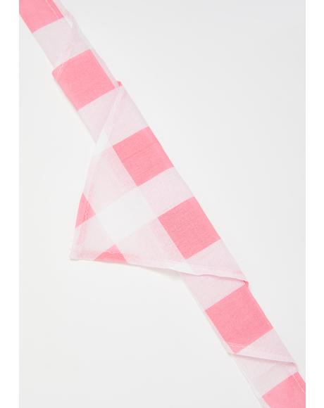Sweet Nature Gingham Headscarf