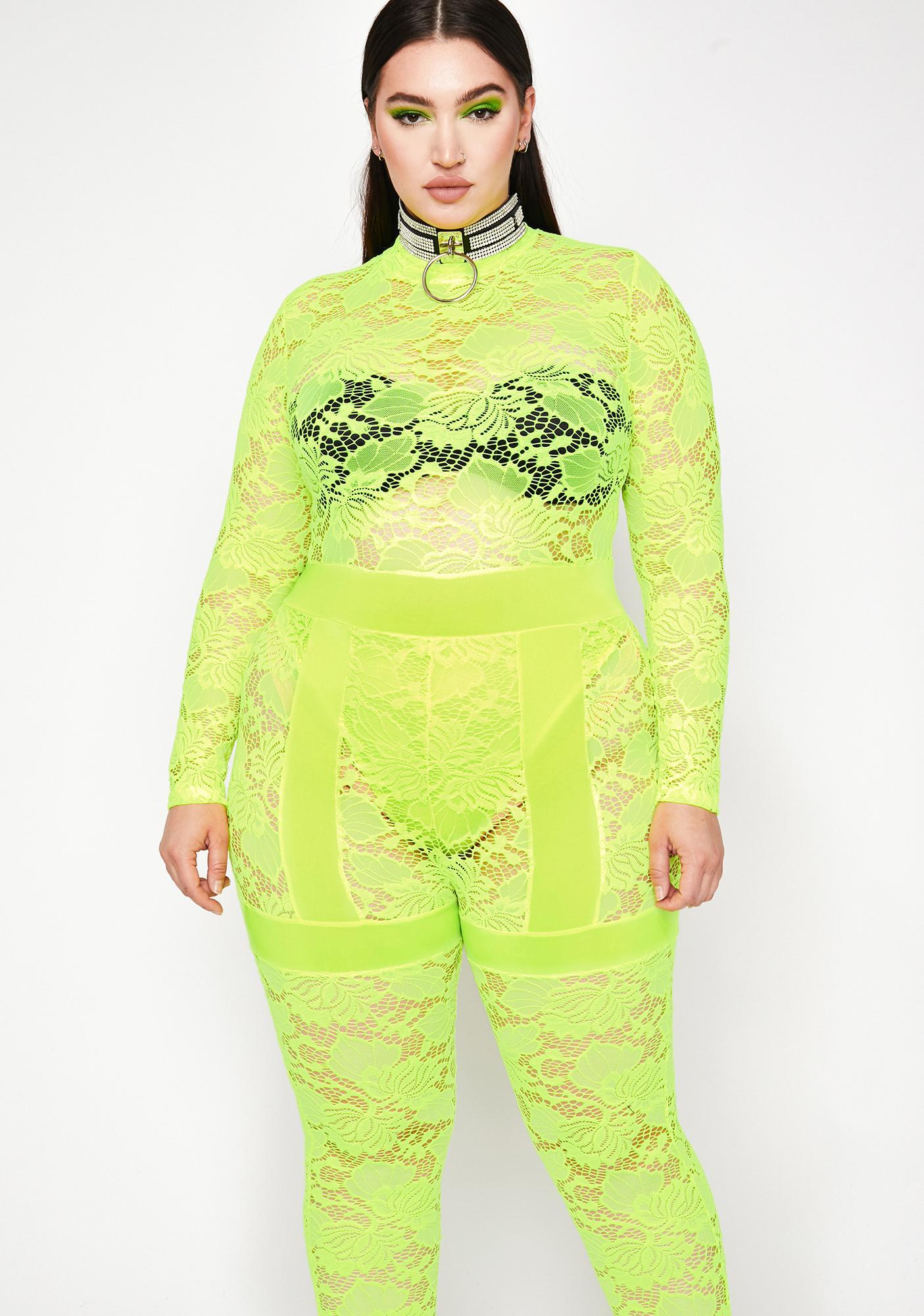 Electric Got Fifth Avenue Fever Lace Jumpsuit