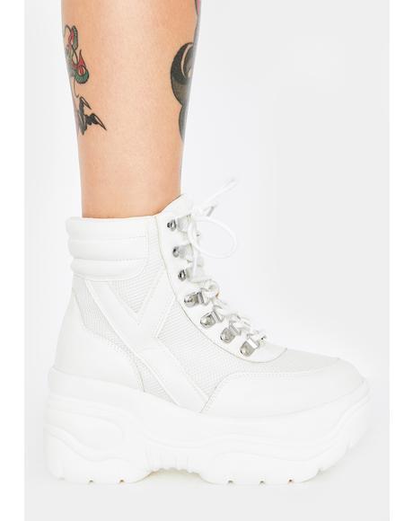White Matrixx Hi 2 Platform Sneakers