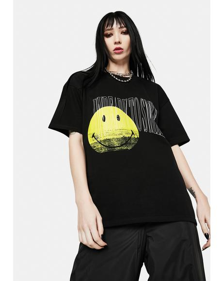 x Smiley Unready To Smile Graphic Tee