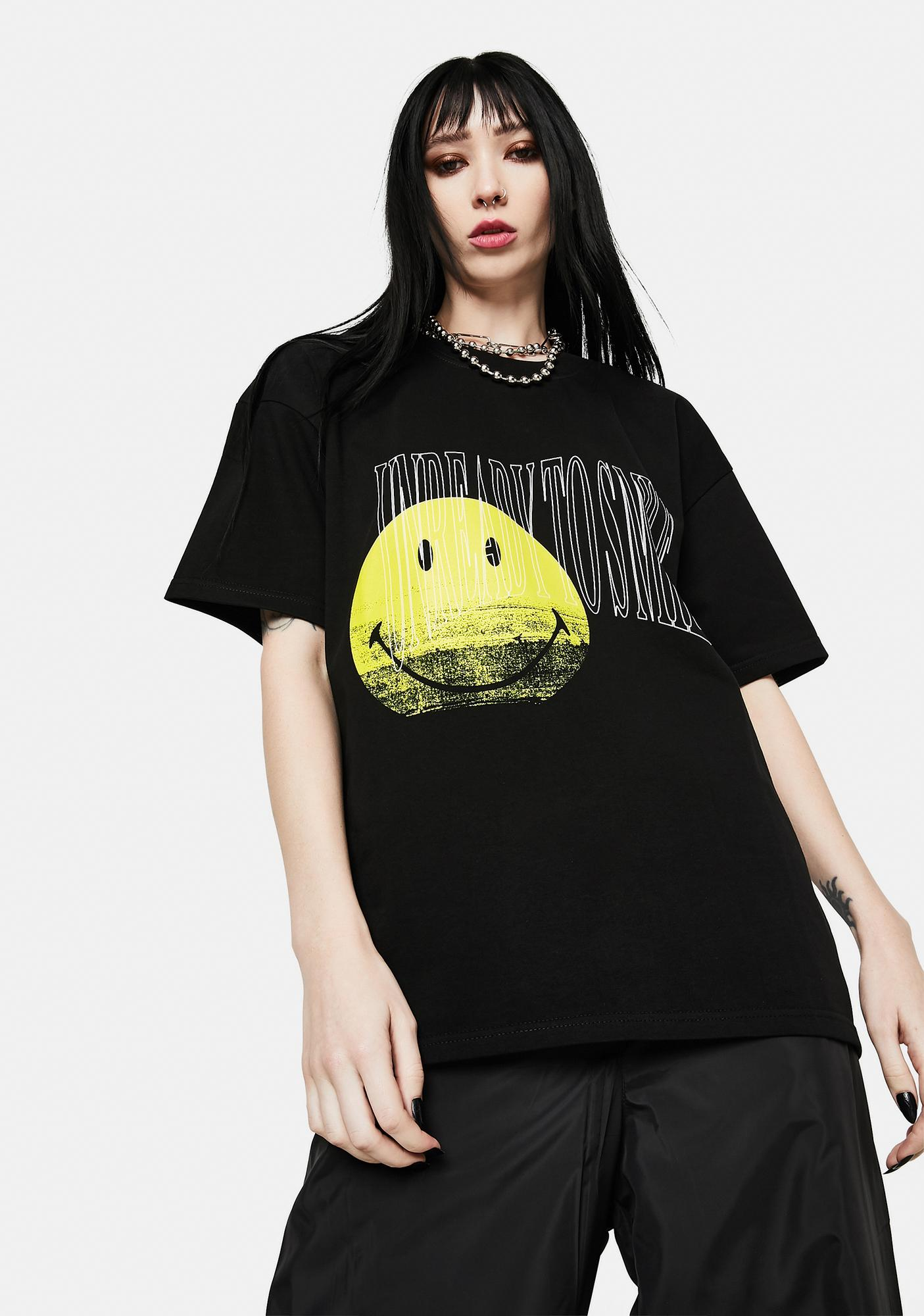 ZNY x Smiley Unready To Smile Graphic Tee