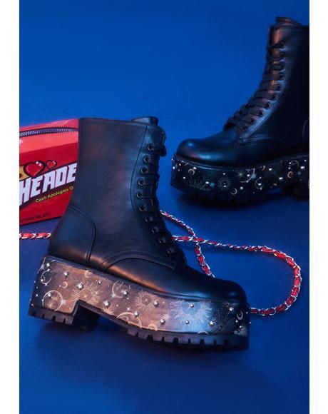 Mystic Matters Combat Boots