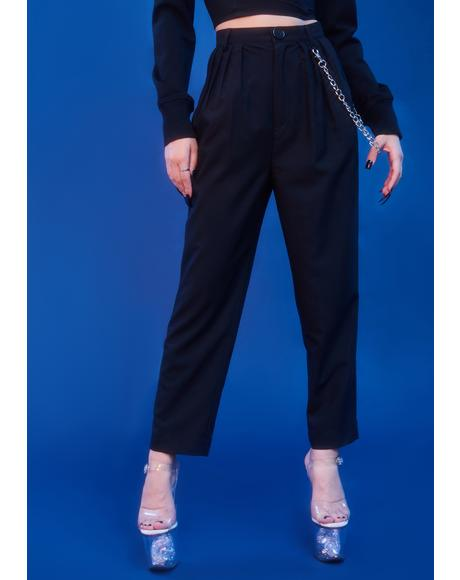 Keeping It Real Pleated Trousers