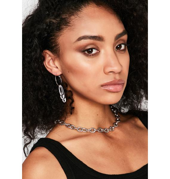 Just Saying Safety Pin Earrings