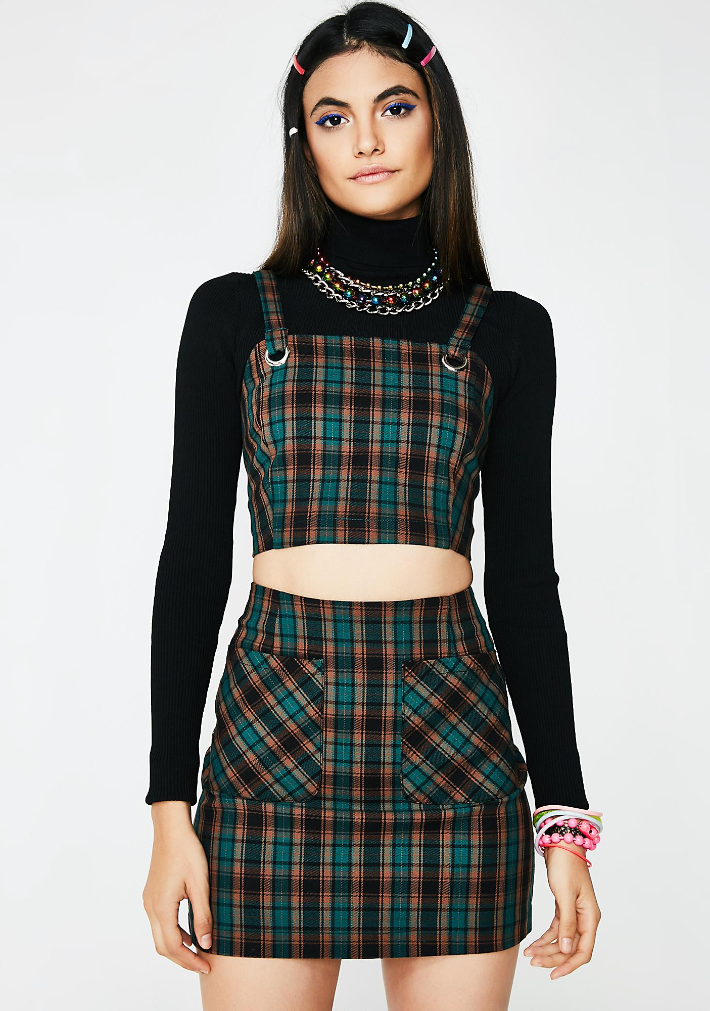 Forest Conflict Of Interest Plaid Skirt