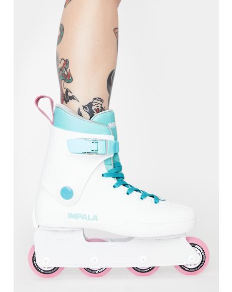 White Inline Skates