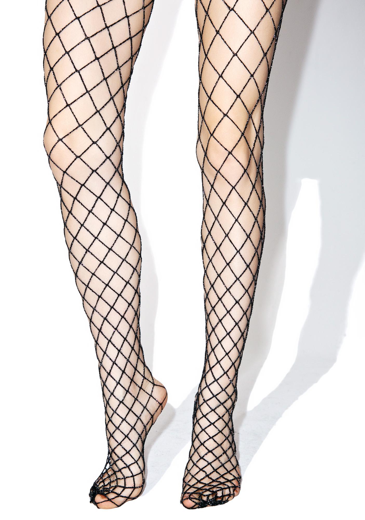 1bcd4fcbe22a9 Sparkle Sis Glitter Fishnets | Dolls Kill