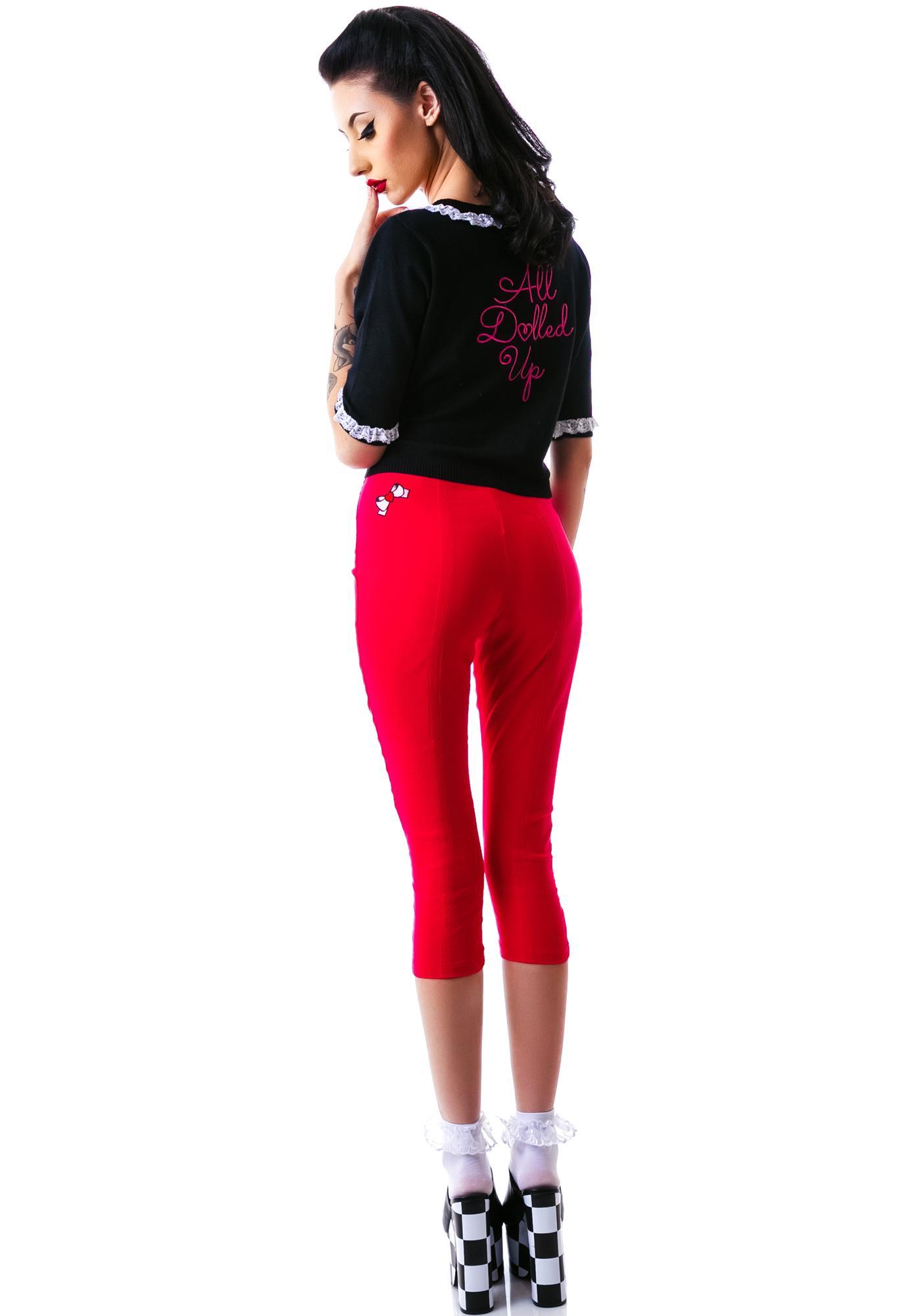 Sourpuss Clothing Sugar Pie Pink Capris