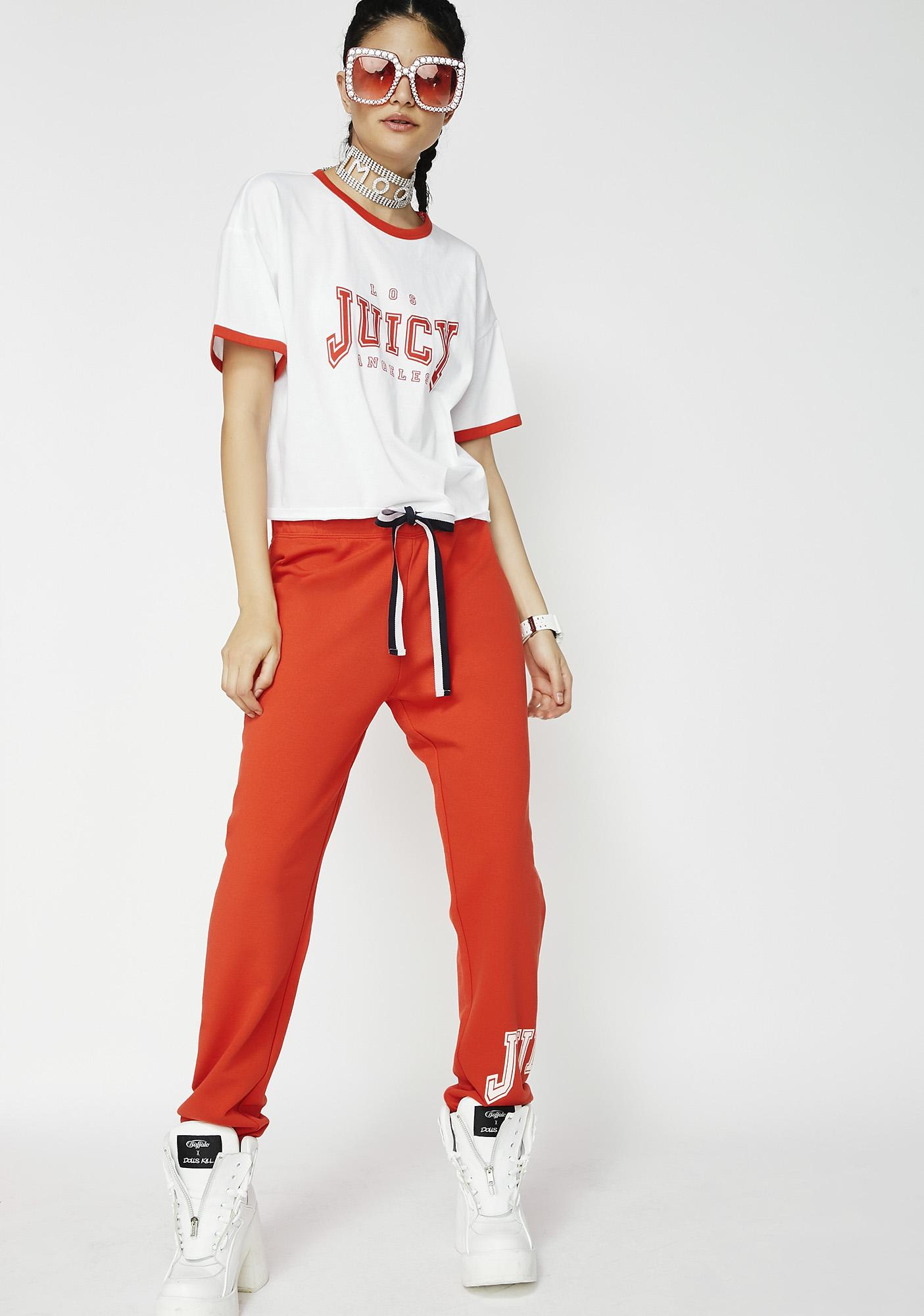 JUICY COUTURE Juicy Mini Logo Terry Pants