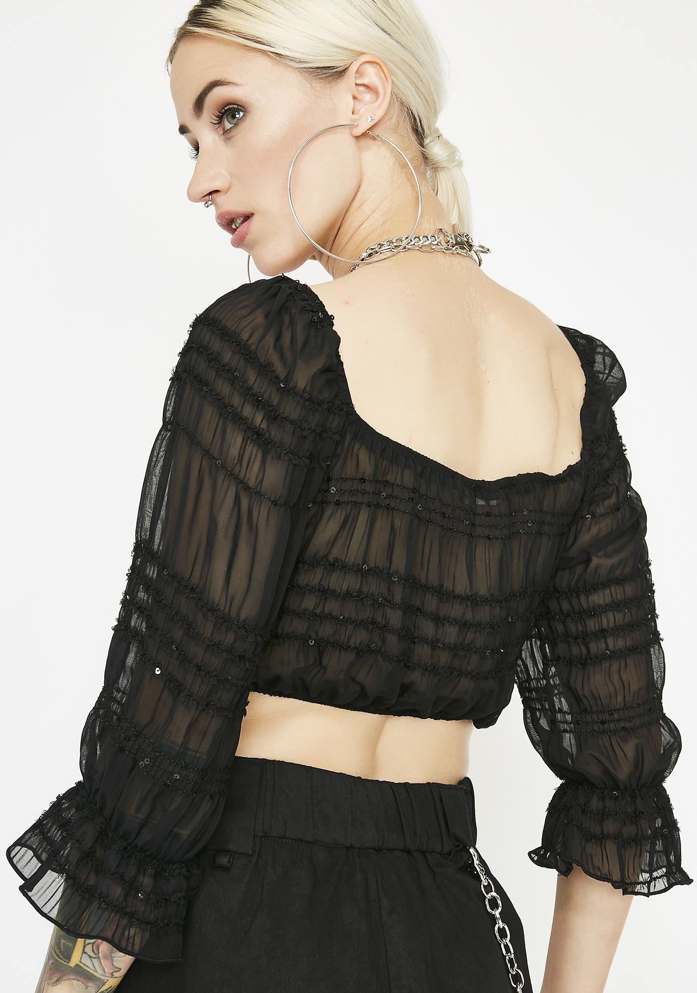 Shady Woman Sheer Top