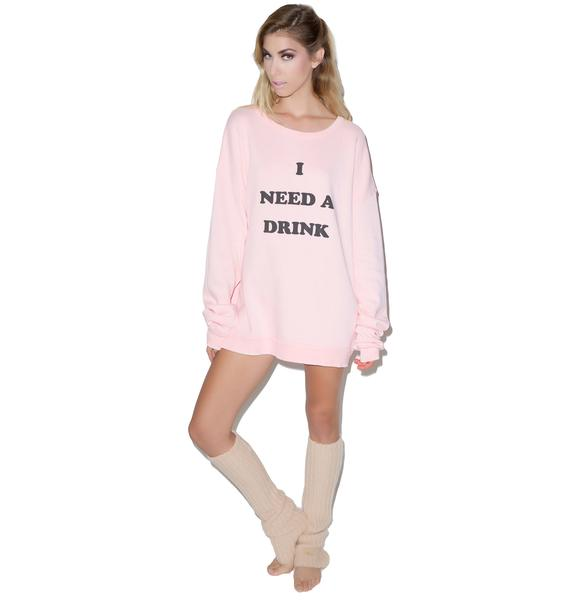 Wildfox Couture Need A Drink Barefoot Sweater