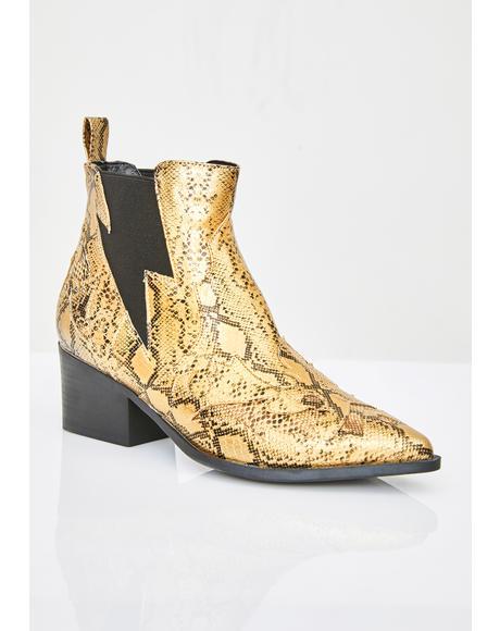 Callin' For Revenge Snakeskin Boots