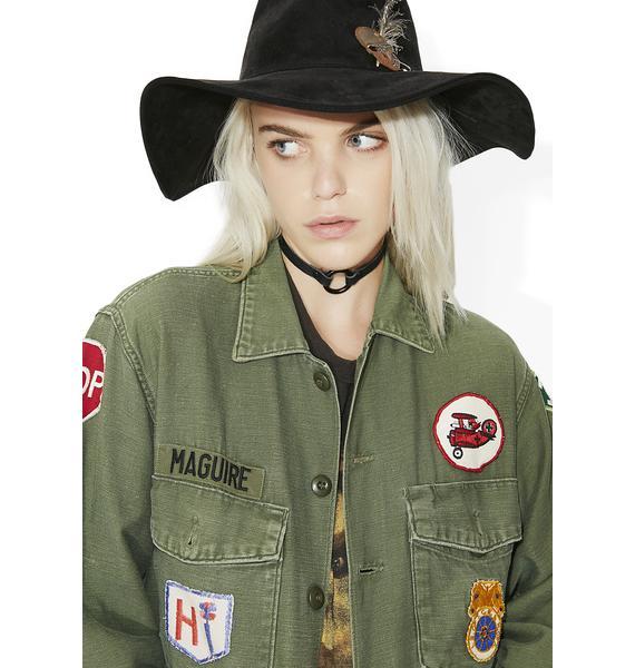Vintage Patchwork Military Jacket