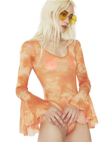 Secondhand Serenade Tie-Dye Bodysuit